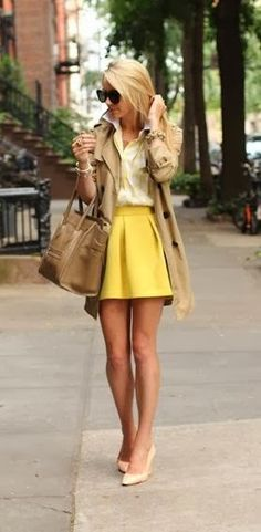 FASHION AND STYLE: Yellow & Neutrals