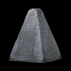 Limestone pyramidion of Wedjahor  Possibly from Abydos, Egypt Early 26th Dynasty, around 650 BC