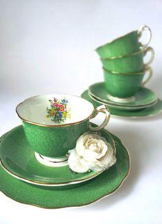 Emerald Green Vintage Tea Set!