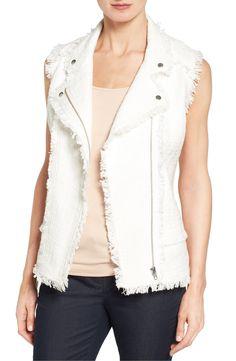 Halogen® Fringe Tweed Vest (Regular & Petite) Go ahead and fringe the shoulders all the way to the hem?