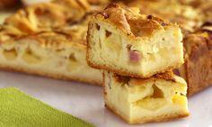 Aqueça o forno em temperatura média, a 180 ºC. No liquidificador, bata o óleo, a margarina, o leite, os ovos, a farinha, o queijo e o fermento. Em uma assadeira retangular untada com margarina, col…