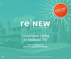 Are you looking for an apartment community in Midland, TX? Look no further! 🌇 We are currently offering up to $750 OFF your first full month rent! Contact us today and be our neighbor. #NowLeasing Apartment Lease, Midland Texas, Apartment Communities, Tours, Community, Learning, Holiday, Renting, Vacations