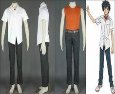 Camplayco A Certain Magical Index Kamijou Touma Cosplay Costume-made ** More info could be found at the image url.