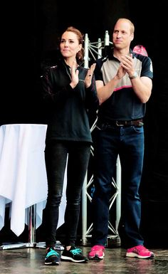The Duke and Duchess of Cambridge are seen on stage at the America's Cup World Series on July 24, 2016 in Portsmouth, England.