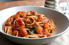 Shrimp Fra Diavolo or Shrimp in a Spicy Red Sauce with Lots of Garlic!