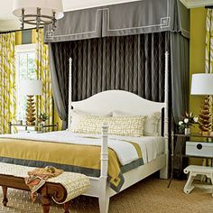 I am planning to make a canopy over our bed in the master bedroom soon like this one
