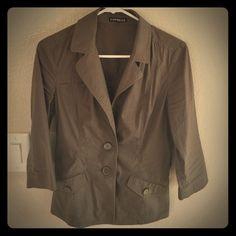 Blouse/ Jacket Khaki green blouse Express Tops Blouses