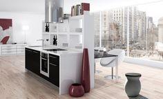 VASE.Jarron Qubo Badis. Cubo de basura de diseño para una cocina de lujo. Interiorismo de otro nivel. Corner Desk, Divider, Room, Furniture, Home Decor, Waste Container, Kitchen Built Ins, Cubes, Interior Design