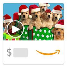 Amazon eGift Card - Caroling Canines (Animated) [American Greetings] [American Greetings]