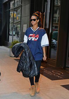 Rihanna leaving New York