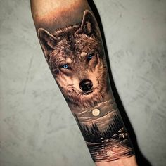 Wolf Tattoos For Women, Black And Grey Tattoos For Men, Rose Tattoos For Men, Arm Tattoos For Guys, Wolf Tattoo Forearm, Tribal Arm Tattoos, Body Art Tattoos, Cool Tattoos, Lion Tattoo Sleeves