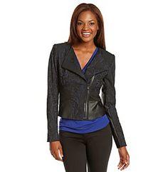On the Clock: T Tahari® Deanna Jacket Women's Coats, Coats For Women, Clock, Leather Jacket, Jackets, Fashion, Girls Coats, Girls Coats, Watch