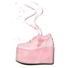 Y.R.U. X Dolls Kill Bae Platform Wedges (680 ARS) ❤ liked on Polyvore featuring shoes, wedge ballet shoes, wrap around shoes, wedge sole shoes, wedge shoes and satin shoes
