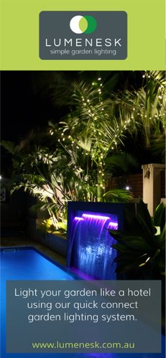 Lumenesk LED Strip Lighting Used In This Pool Water Feature. Pool Water  Features, Strip