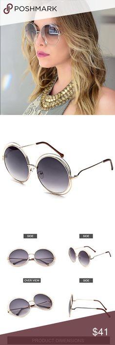 🆕 Double Rim Round Gradient Mirrorred Sunglasses ❌ NO TRADE  Entropycat  Mirror Accessories Sunglasses