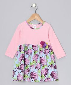 Take a look at this Pink Floral Dress - Toddler & Girls by Fine Print: Kids' Apparel on #zulily today!