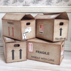 1:12 miniature moving boxes INSTANT DOWNLOAD