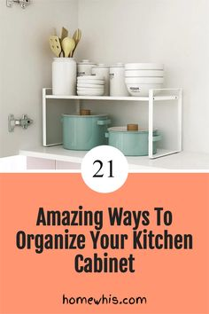 Low on kitchen cabinets storage space? Have trouble finding what you need? Here are 21 organization ideas that'll keep your cabinet clutter free and looking organized. If you love to cook, then you'll surely find these tips useful.Start organizing your upper and lower cabinets now with these 15 organization ideas! #homewhis #cabinetorganization #homeorganization #pantryorganization #spiceorganization #declutter Small Kitchen Organization, Kitchen Cabinet Storage, Low Cabinet, Kitchen Cabinet Organization, Closet Organization, Organization Ideas, Organizing, Kitchen Cabinets, Sink Organizer