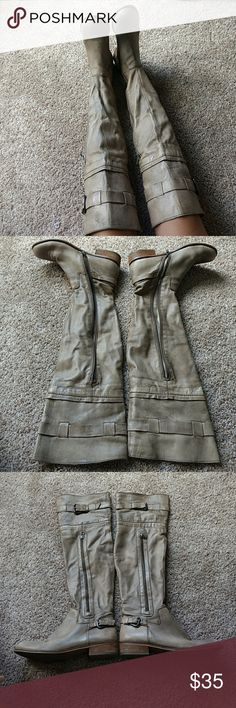 Steven by Steve Madden boots Gray over the knee boots Steven by Steve Madden Shoes Over the Knee Boots