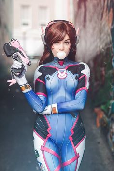 D.Va from Overwatch by Ri Care @ facebook.com/riannacare - More at https://pinterest.com/supergirlsart #ricare #rianna #riannacare #hot #sexy #cosplay #girl #cosplaygirl #dva