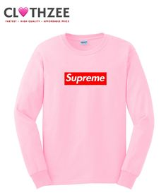 60d660e4 Supreme Pink Sweatshirt from clothzee.com This sweatshirt is Made To Order,  one by