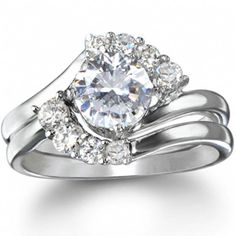 From Here to Eternity Sterling Silver CZ Engagement Ring Set Silver Rings Online, Cheap Silver Rings, Sterling Silver Wedding Rings, Sterling Silver Jewelry, Silver Earrings, Cheap Engagement Rings, Engagement Ring Settings, Cubic Zirconia Wedding Rings, Golden Jewelry