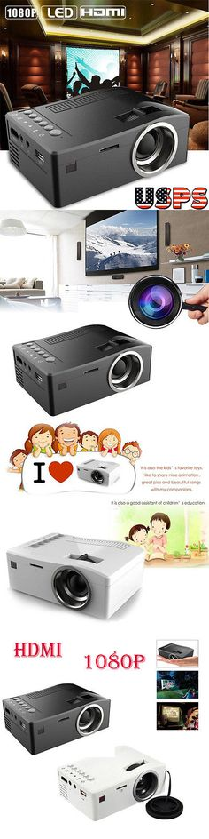 Home Theater Projectors: Full Hd 1080P Home Theater Led Mini Multimedia Projector Cinema Usb Tv Hdmi Mt BUY IT NOW ONLY: $33.99