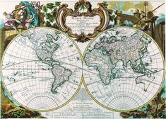 Maps World atlas World map poster 112 by mapsandposters on Etsy, $9.99