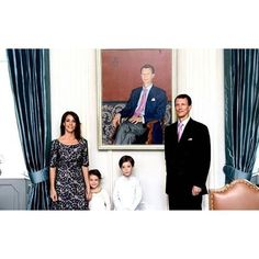 Prince Joachim, Princess Marie, Prince Henrik and Princess Athena attended the unveiling of Prince Joachim and Princess Marie's portraits at the Schackenborg Palace on 5 May 2016.