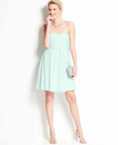 Silk Georgette Strapless Dress 40% off $199