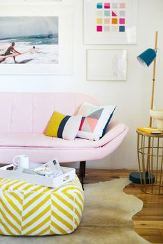 Emily Henderson's Los Angeles home ... Love these colors, hard sell for joe though... Bedroom?