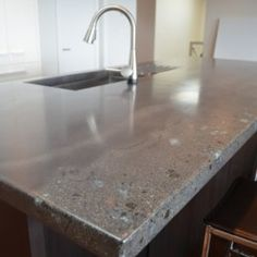 Concrete Countertops   Polished Concrete   Kitchen Countertops   Diana U0026  Stephan   Pinterest   Polished Concrete Kitchen, Concrete Kitchen  Countertops And ...