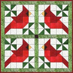Christmas Quilt Patterns, Barn Quilt Patterns, Modern Quilt Patterns, Pattern Blocks, Free Quilt Block Patterns, Modern Quilt Blocks, Christmas Quilting, Bird Patterns, Bird Quilt Blocks