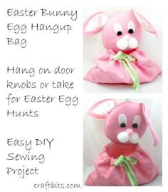 This Easter project shows you how to make an adorable Easter bunny craft project. The bunny bag is perfect for hanging on door knobs filled with decorative easter eggs or for taking to an Easter Eg...