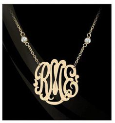 5ce73e9abbec Stunning monogram necklaces available in sterling silver