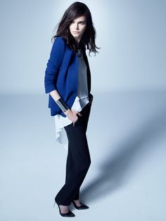 Baroque Blue: Rock the cool blues with engineered lace jacquard, leather and urban silhouettes. #FALL #BCBGMAXAZRIA