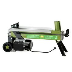 The Sun Joe Logger Joe LJ601E is a portable log splitter made for home or light/portable use. Its 120 Volt/2 HP motor has an approximate driving force of 5 Tons; which will easily handle your standard