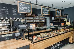 Bakery Shop Design, Coffee Shop Interior Design, Coffee Shop Design, Bakery Cafe, Cafe Restaurant, Restaurant Design, Juice Bar Design, Bar Pub, Bistro Design