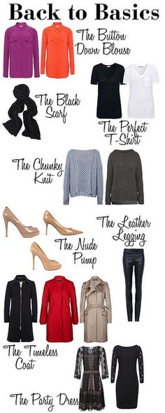 Basic pieces to build your wardrobe