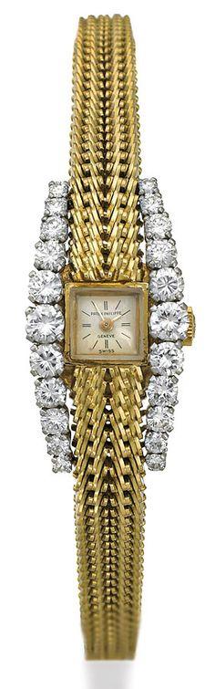 PATEK PHILIPPE 18CT GOLD AND DIAMOND WRISTWATCH