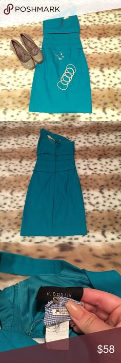 Sexy One-Shoulder Aqua Formal Dress Amazing condition! Worn once! Comment if you would like a picture of it on! Form fitting! Super sexy! Bra padding included! Size 5! 💙💕 B. Darlin Dresses