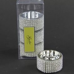 GLSS CANDLE HLDR W/BEADS 4/BX
