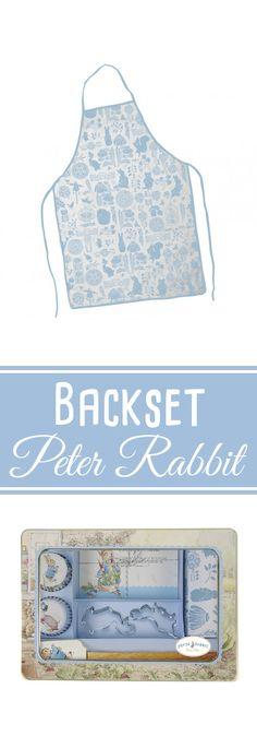 """Set """"Peter Rabbit"""" zum Backen von Keksen, Cupcakes oder Muffins. Inklusive Schürze, Ausstecher und Muffinförmchen mit Hasen-Motiven. #Backset #Backzubehör"""