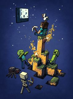 popular mine craft fan art t shirt designs - Google Search