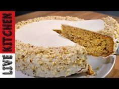 Εύκολη σε παρασκευή συνταγή χωρίς τη χρήση μίξερ Cheesecake Cake, Carrot Cake, Kitchen Living, Cheesecakes, Vanilla Cake, Banana Bread, Carrots, Desserts, Recipes