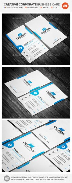 Creative Corporate Business Card - http://graphicriver.net/item/creative-corporate-business-card/10754639?ref=mengloong