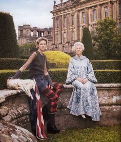 Deborah Cavendish, Duchess of Devonshire and Stella Tennant photographed by Mario Testino | 2010