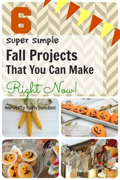 A few easy projects to kick off your Fall season in style!