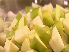Celery Root and Apple Puree: Ina Garten Barefoot Contessa: Food Network Pureed Food Recipes, Vegetable Recipes, Food Network Recipes, Food Processor Recipes, Celery Root Puree, Sauteed Scallops, Best Apple Cider, Golden Delicious Apple, Food Mills