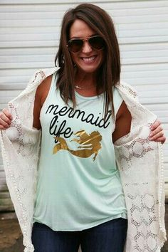 93ec02e7d Mermaid Life is where it's at. When we are not in the water in our real  swim-able tails from Fin Fun Mermaid this is what we wear.
